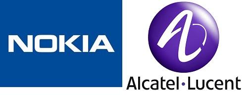 Logo Nokia et Alcatel-Lucent