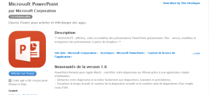 Powerpoint sur iTunes
