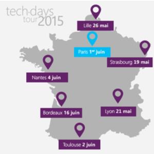 dates et lieux du Techdays Tour
