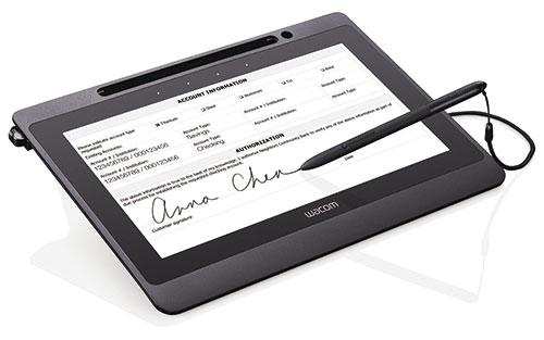 DTU-1141 de Wacom, un écran à stylet Full HD pour visualiser et renseigner des documents électroniques en mode plein écran, et les signer numériquement.