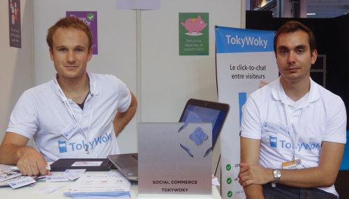 Quentin Lebeau, PDG, et Raphaël Prat, directeur technique de TokyWoky.