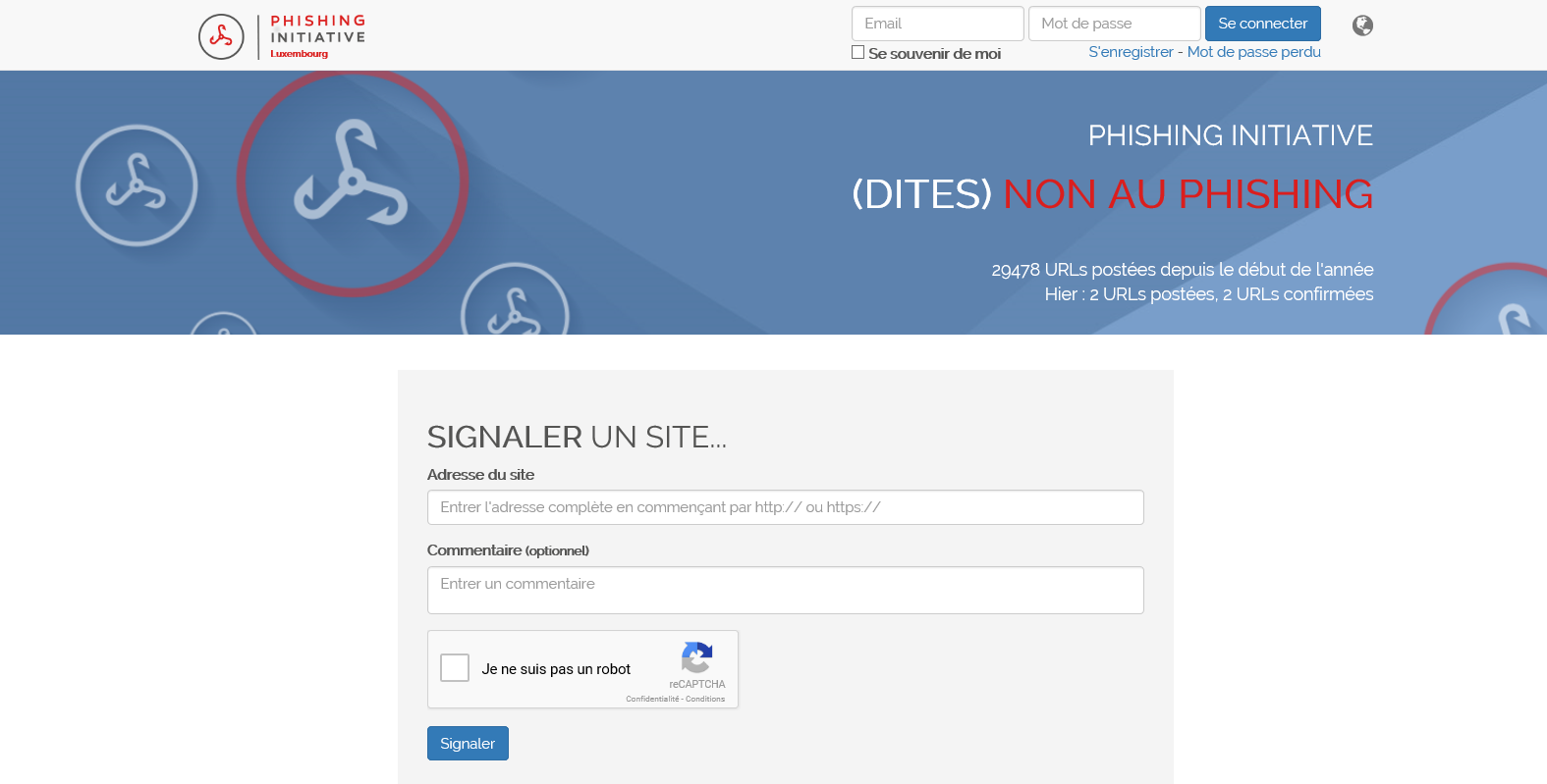 Le site anti-phishing du Luxembourg