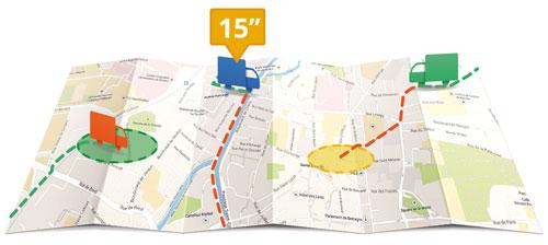 Google Maps for Work facilite la gestion et le suivi des flottes de véhicules, d'un seul coup d'œil comme les camions d'un transporteur.