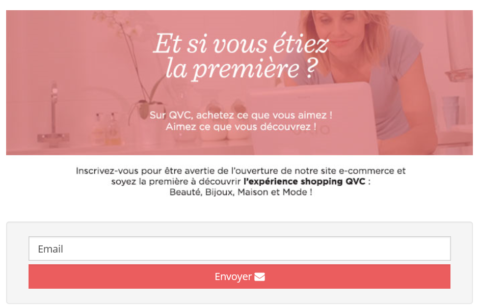 Inscription au site QVC France