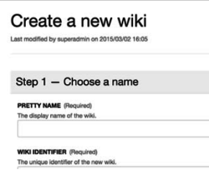 Xwiki Collaboration Suite création wiki