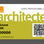 Carte d'architecte sécurisée