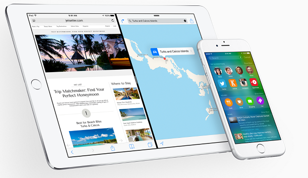 iOS 9 sur iPhone et iPad
