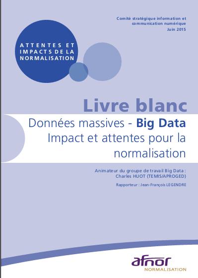 Couverture du livre blanc de l'Afnor sur le Big Data