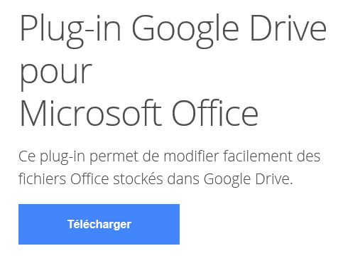 Plug-in Google Drive pour Office