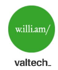w.illi.am et Valtech logos