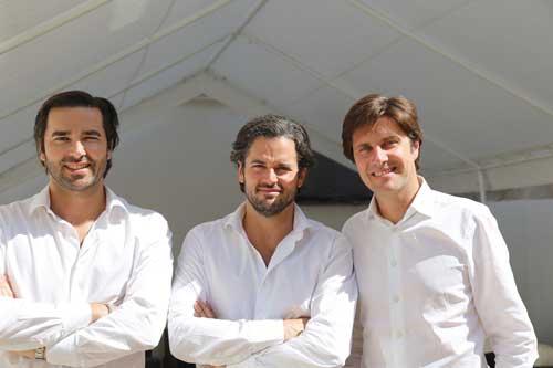 L'équipe de Oodrive. De gauche à droite : Edouard de Rémur, Stanislas de Rémur, Cédric Mermillod.