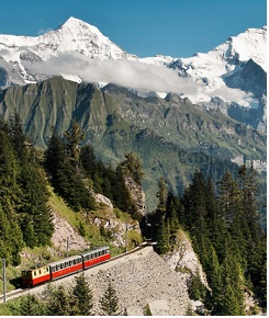 Le train traditionnel de la Jungfrau