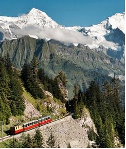 Le train traditionnel de la Jungfrau