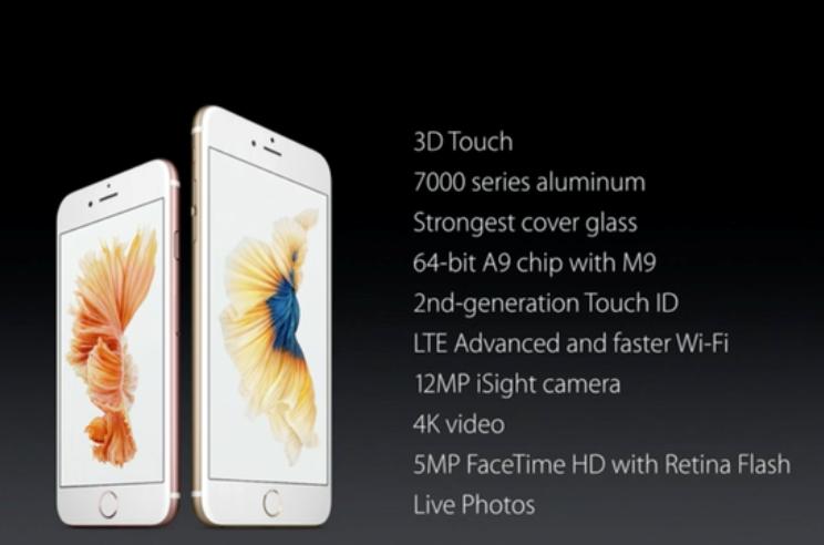 Les caractéristiques des nouveaux iPhone