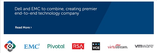 L'annonce de l'accord en ligne. Le portfolio des marques d'EMC