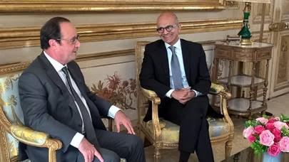 Satya Nadella et François Hollande