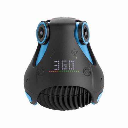 3 yeux et 3 oreilles pour la 360cam de Giroptic : vidéos en 2K et  photos en 4k à 360°. 499 euros environ.