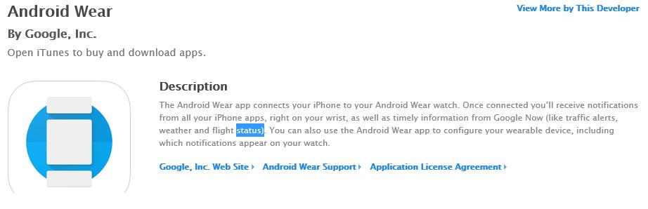 AndroidwearforiOS