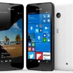 Lumia 550 noir et blanc