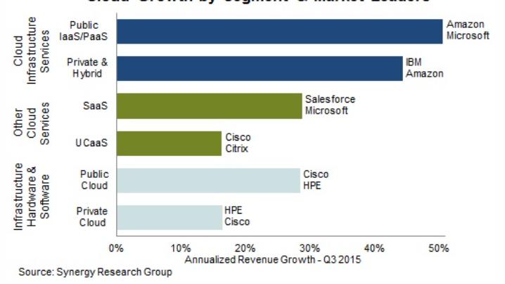 Croissance par segments et entreprises leaders