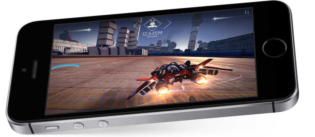 L'iphone 5SE est assez puissant pour faire tourner des jeux en 3SD