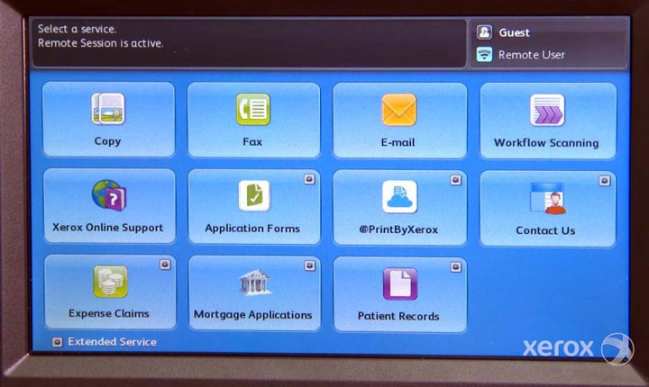 xerox connectkey-touch-screen
