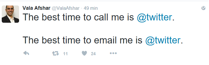 Vala Afshar Tweet 2