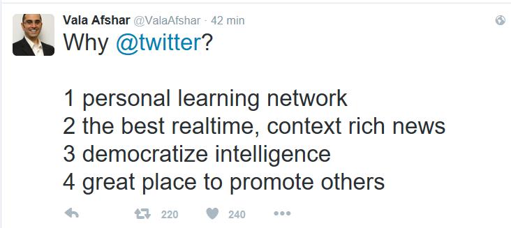 Vala Afshar tweet