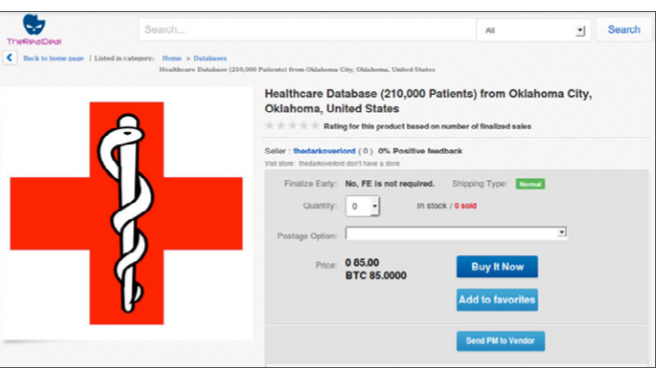 Des données médicales volées en vente sur Internet