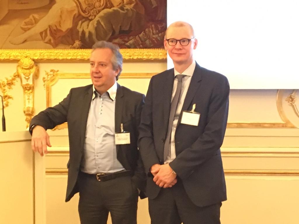 A gauche: Nicolas Leroy-Fleuriot, Cheops Technology, à Droite, Gilles Thiebaut, Hewlett Packard Enterprise