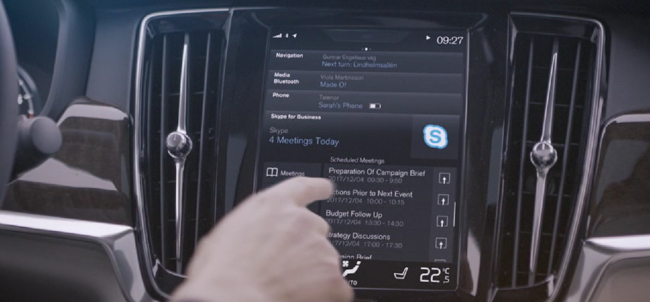 Skype for business dans les Volvo