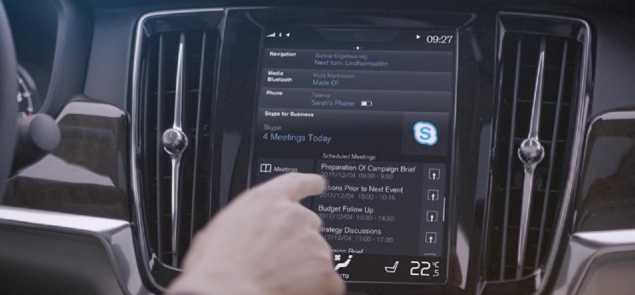 Skype for business dans les Volvo