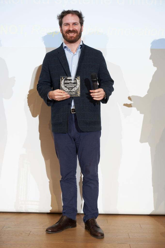 Jean-Baptiste Maupas-Oudinot reçoit son Trophée