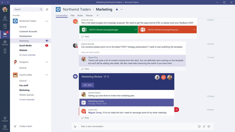 Microsoft Teams. Afin de proposer son nouveau service collaboratif Teams dans Office 365, plutôt que de racheter Slack, Microsoft a tout simplement copié le service de la startup. Le service propose de centraliser, dans un seul espace personnalisé et sécurisé, l'ensemble des contacts, conversations et messages d'un même collaborateur.