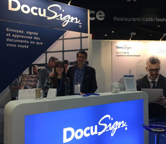 Le stand Docusign au salon Documation 2017