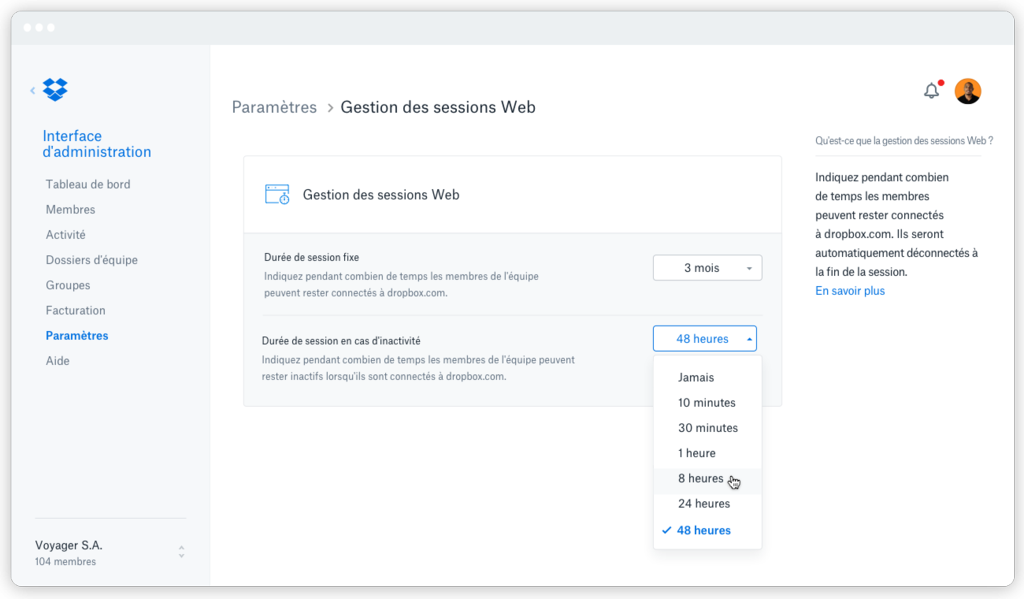 Gestion des sessions Web