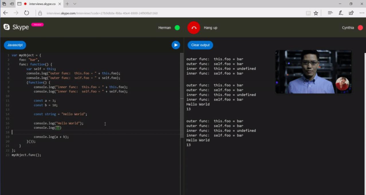 Editeur de code sous Skype