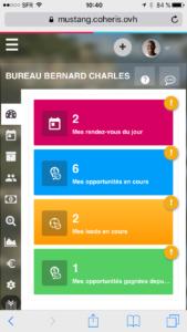 Coheris CRM Suite 6.0 sur un smartphone