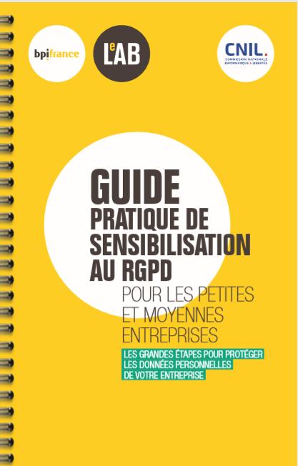 RGPD : le guide pratique de la Cnil