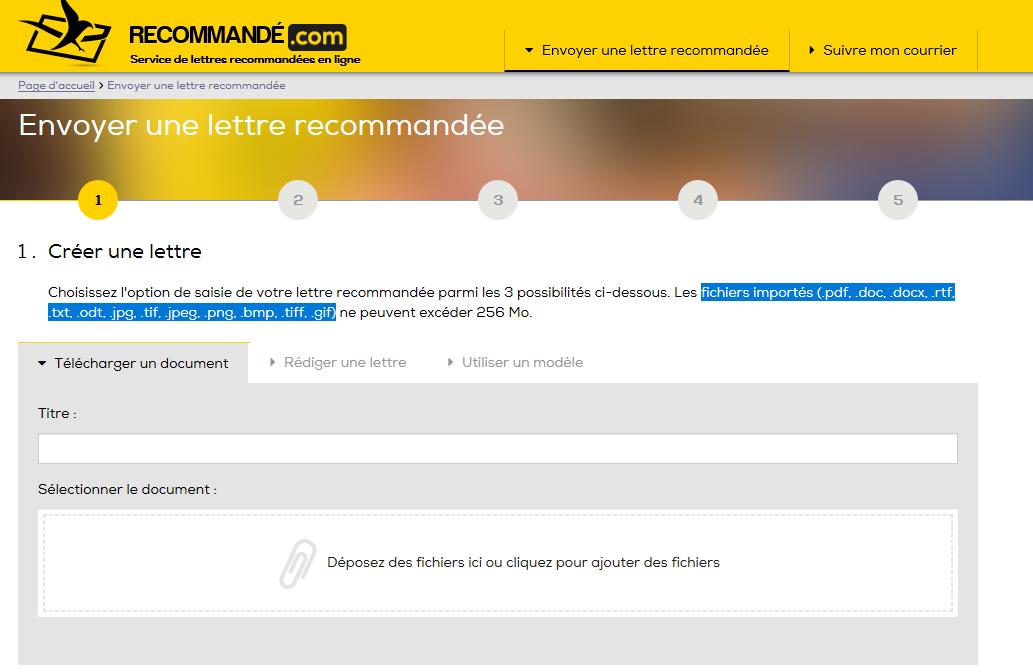 Recommande Com Envoie Et Gere Les Lettres Recommandees Version