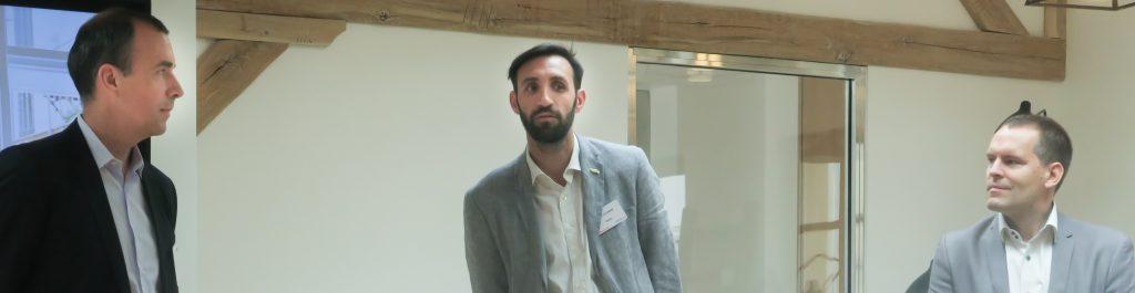 Au cen(re, David Legendre, Chief Data Officer, direction grand public France chez Engie