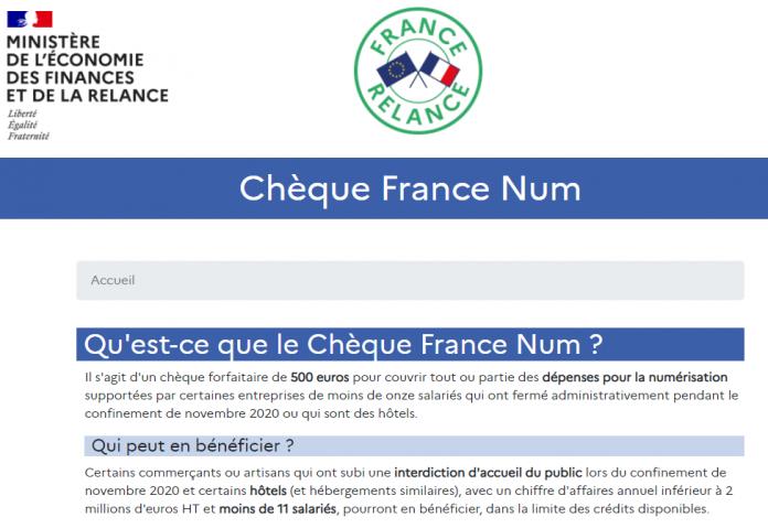 Chèque France Num